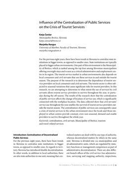dLib si - Influence of the centralization of public services