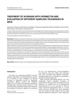 dLib si - Treatment of acariasis with ivermectin and