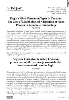 dLib si - English word-formation types in Croatian