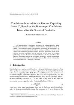 dLib si - Confidence interval for the process capability