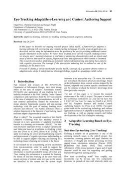 dLib si - Eye-tracking adaptable e-learning and content authoring