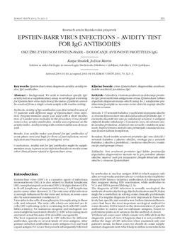 dLib si - Epstein-Barr virus infections - avidity test for