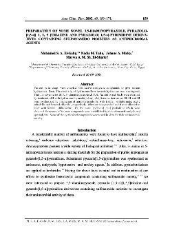 dLib si - Preparation of some novel 3,5-diaminopyrazole